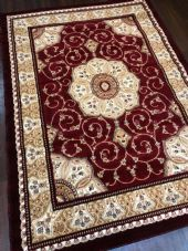 Modern Rug Approx 8x6ft 180x240cm Woven Thick rug Top Quality Red-Beige-Cream